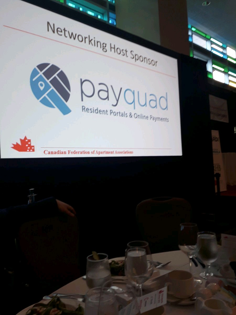 Payquad sponsors at the CFAA 2018- Vancouver